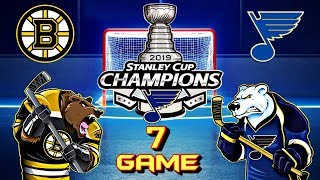 Boston Bruins vs St. Louis Blues. Final. Game 7 | Бостон Брюинз - Сент-Луис Блюз. Финал. Игра 7
