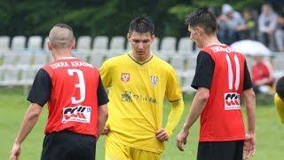Bramka Macieja Staszczuka dla Korony w meczu z Iskrą Krasne
