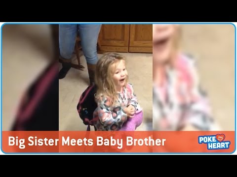 Big Sister Meets Baby Brother