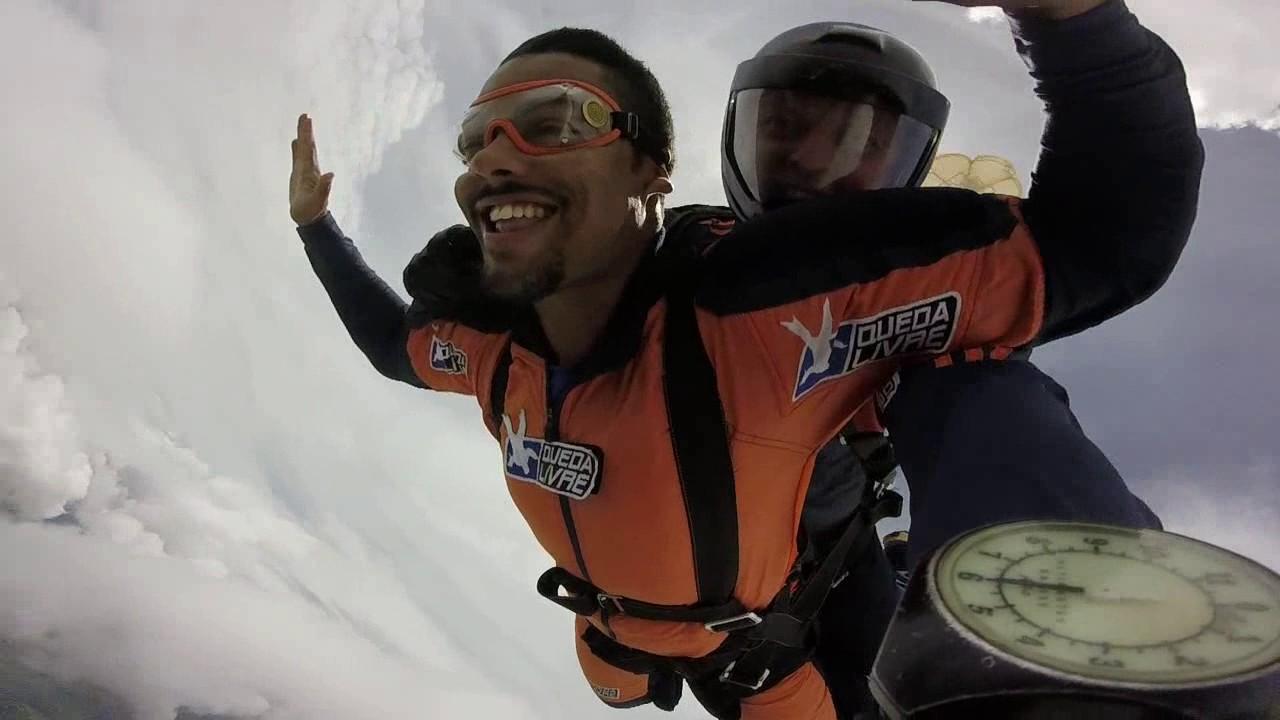 Salto de Paraquedas do Bruno S na Queda Livre Paraquedismo 21 01 2017