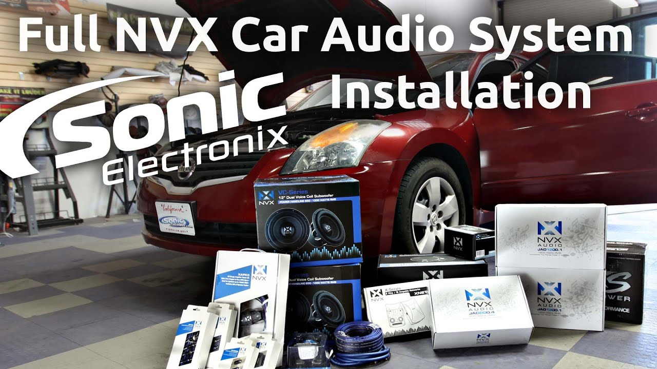 Car Audio Installation - 2008 Nissan Altima Full NVX System ...
