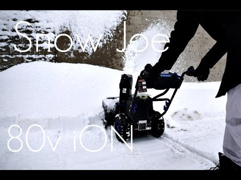 BATTERY POWERED CORDLESS 2 STAGE Snow Blower - Snow Joe 80v ION SnowBlower -  REVIEW / DEMO