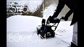 The Next Generation of 2 STAGE Snow Blowers?- Snow Joe 80v iON Cordless SnowBlower - In-depth Review