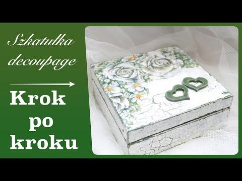 Postarzane pudełko decoupage dla zakochanych - krok po kroku