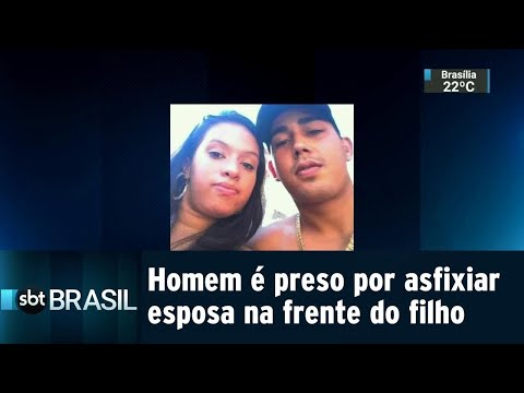 No Rio, homem é preso por asfixiar esposa grávida na frente do filho   SBT Brasil (07/08/18)