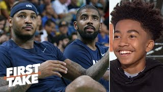 Miles Brown wants Carmelo on the Nets, says the Lakers will be better than the Clippers | First Take