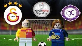 Galatasaray Osmanlıspor Maç Özeti 2-0 (LEGO SÜPER LİG MAÇ ÖZETLERİ)/ Lego Football Goals Highlights