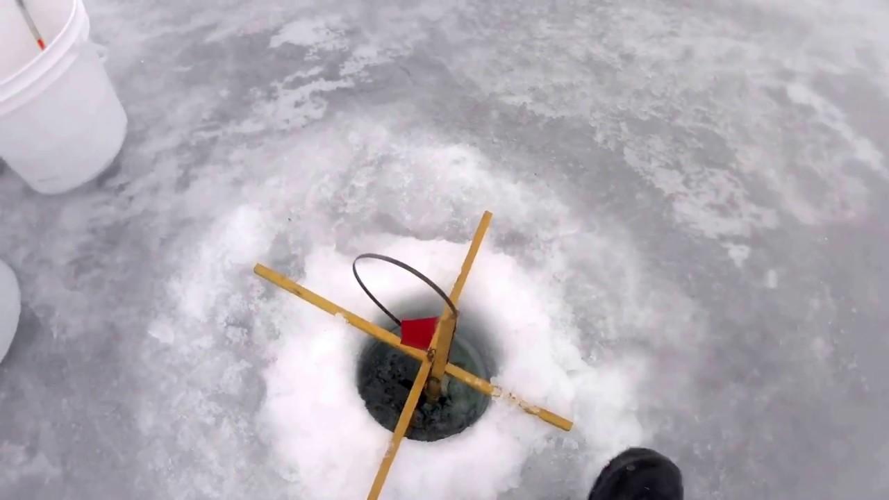 Ice fishing in upstate ny youtube for Ice fishing ny