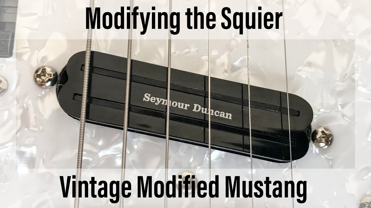 Modifying The Squier Vm Mustang Part 2 Installing A Single Coil Humbucker Singlecoil Wiring Sized