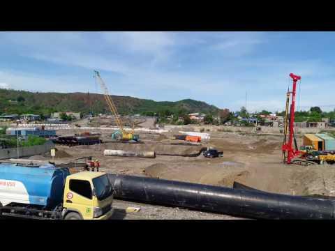 kondisi proyek 1 Comoro Bridge Timor leste, comoro river, East timor, Dili, NGO Project.