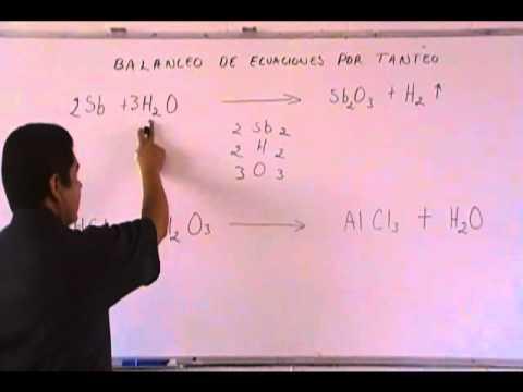 Balanceo de ecuaciones por el método de redox oxido reduccion ejemplos
