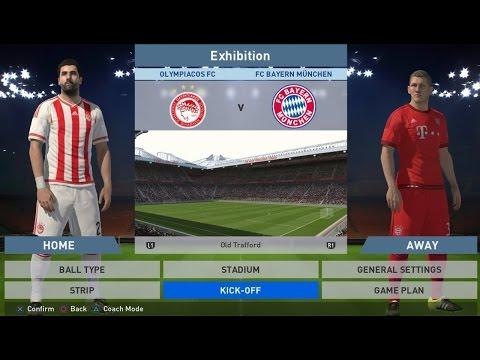 Pro Evolution Soccer 2016: Ολυμπιακός - Bayern Munich