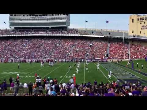 Northwestern University vs Stanford football pass completion
