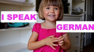 3-jähriges Kind aus den USA spricht Deutsch - 3-year old speaking German - BILINGUAL TODDLER
