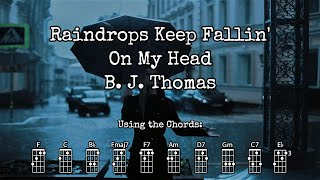 Raindrops Keep Fallin' On My Head - B. J. Thomas | BARITONE Ukulele Play Along