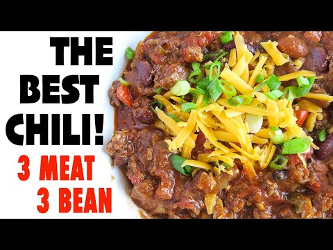 3 Meat 3 Bean Chili | The Best Slow Cooker Chili Recipe!
