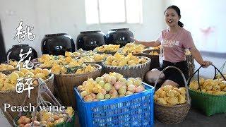 農村姑娘用1500斤桃子,自釀桃花醉,神仙見了都流口水(完整版)