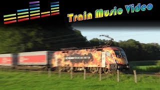 🎼 Train Music Video - Colorful Locomotives   | 5000 Abonnenten Special