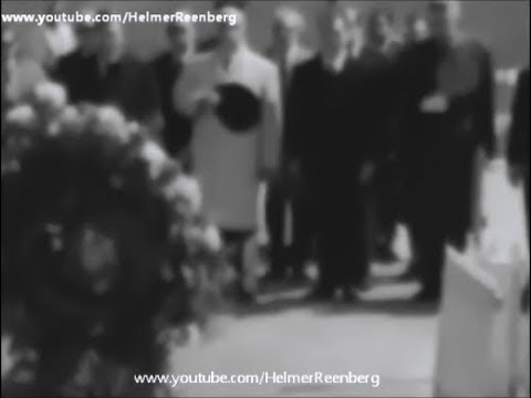 April 14, 1965 - West Berlin Mayor Willy Brandt visits President John F   Kennedy's grave, Arlington