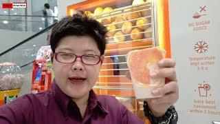 น้ำส้มสดแท้ 100 % ไม่ใส่น้ำตาล - ตู้น้ำส้มหยอดเหรียญ
