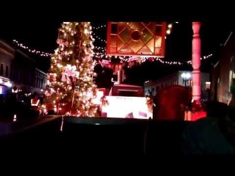 Medina Sandstone Society's Float in the Parade of Lights 2015