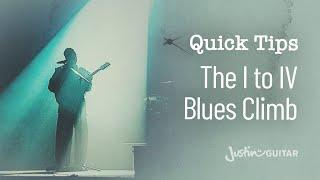 59 Second Guitar Lesson: The I to IV Blues Climb (#003)