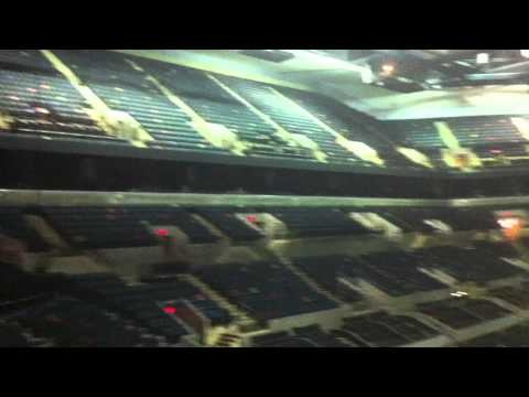Inside the AT&T Center at 4am