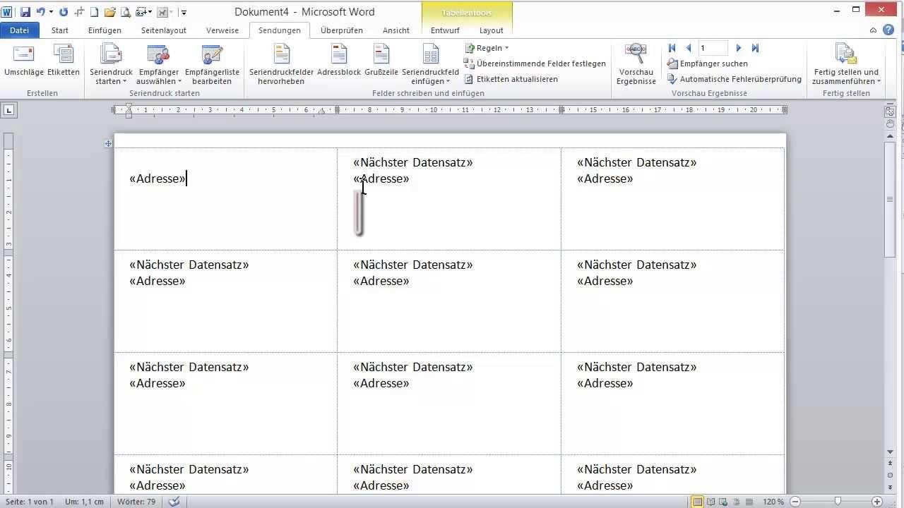 Videoanleitung Erstellen Und Drucken Von Etiketten Mit Word 2010