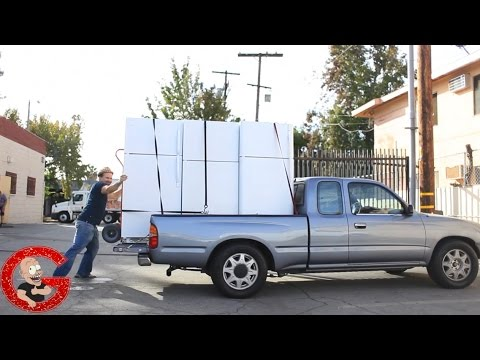 How To Transport 3 Fridges By Yourself | ON ONE PICKUP TRUCK!!!