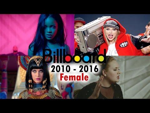 Billboard Hot 100 - No. 1 Female Songs (2010-2016)