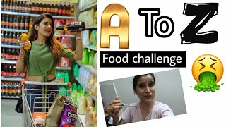 First Time A To Z in Big Bazaar | Alphabetical Order For 24 Hours Food challenge | Super Style Tips