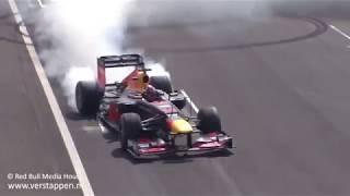 Max Verstappen, Daniel Ricciardo and David Coulthard @ Jumbo Racedagen, Circuit Zandvoort
