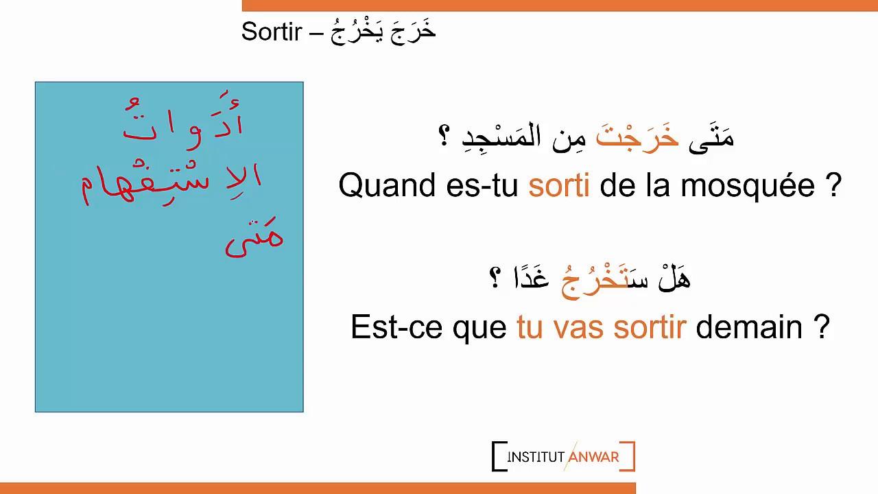 100 Verbes Arabes 3 100 Le Verbe Sortir En Arabe Youtube