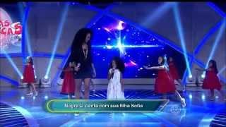 vuclip Negra Li canta com sua filha Sofia no Programa: Raul Gil (09-05-15)