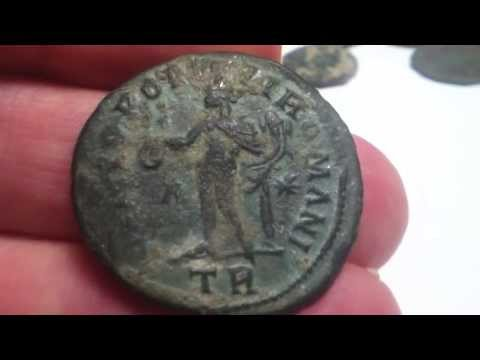 A LOVELY FOLLIS OF CONSTANTIUS 305-306 AD FOUND METAL DETECTING