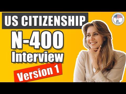 US Citizenship Interview and Test 2019 Official | Examen de Ciudadanía Americana N-400 Interview