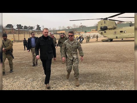 Acting U.S. Defense Secretary Partick Shanahan arrives in Afghanistan