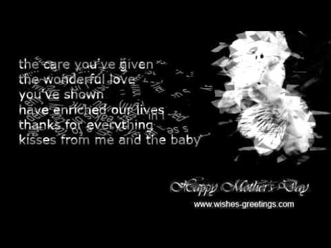 First Mother's Day Quotes And Wishes 1st Time Mother YouTube