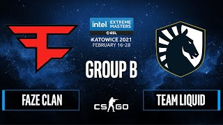 CS:GO - FaZe Clan vs. Team Liquid [Mirage] Map 1 - IEM Katowice 2021 - Group B