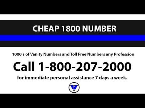 Cheap 1800 Number | Vanity Phone Numbers, Local Phone Numbers