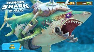 New Great White Shark Unlocked!!! - Hungry Shark World | HD
