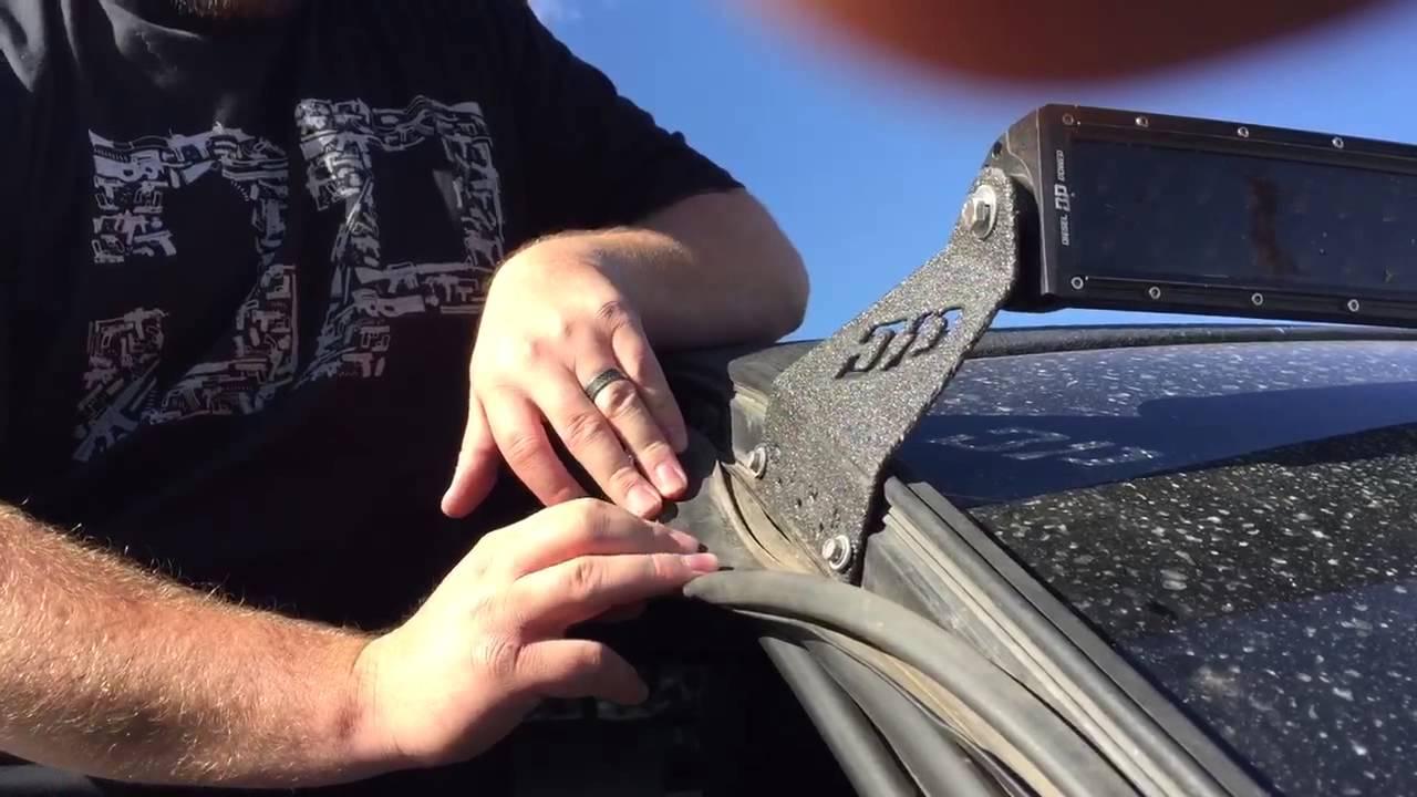 diesel power gear tutorial 3rd gen dodge light bar mount installation [ 1280 x 720 Pixel ]