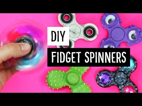 DIY Fidget Spinner Hacks   5 Crazy Ways to Customize!   Sea Lemon
