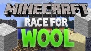 Minecraft: Race For Wool Classic Dual Lane 8vs8 w/Mitch & Friends Part 3 - Sniping