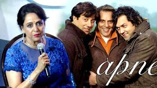 Hema Malini Exposes Dharmendra,Sunny Deol & Bobby Deol In Public