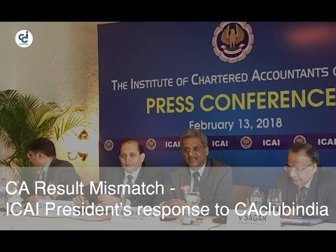 CA Result Mismatch - ICAI President's response to CAclubindia - Free Certified Copies