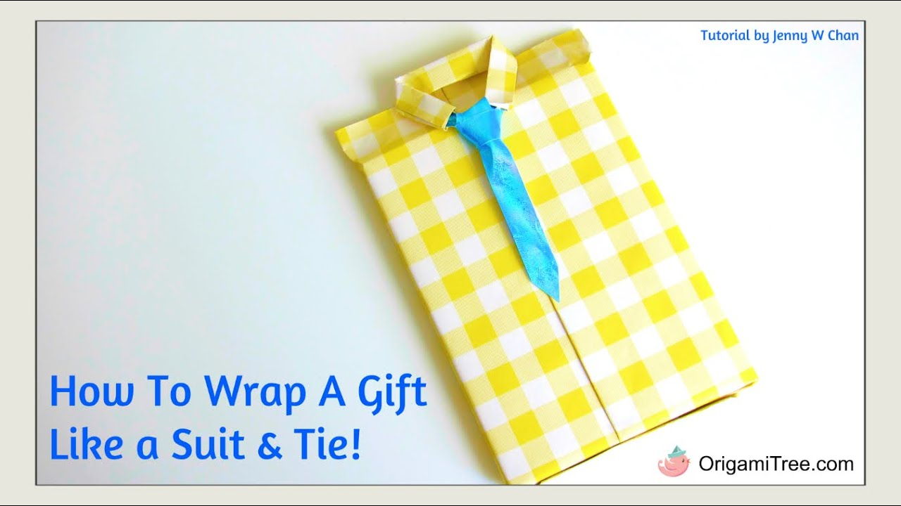 Father 39 s day crafts shirt style neck tie gift wrapping for How to wrap presents with wrapping paper
