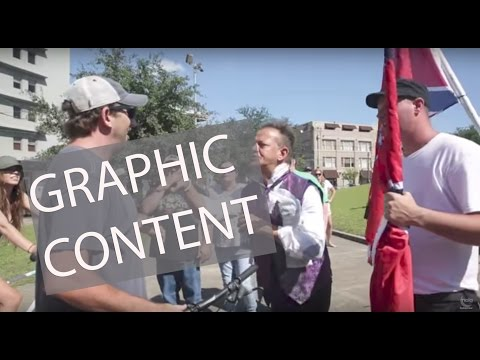 GRAPHIC CONTENT: Confederate monument protesters  in New Orleans clash at Lee Circle