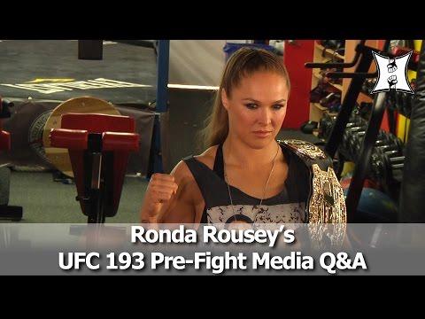 UFC Champ Ronda Rousey's UFC 193 Pre-Fight Media Q&A (Complete + Unedited)