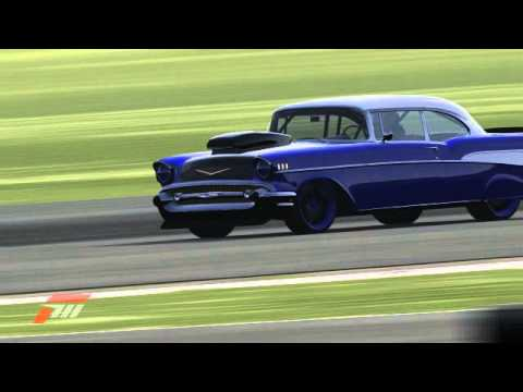 Forza 4 Awesome Chevy Bel Air Drag Car Youtube